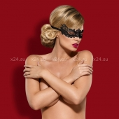 Черная ажурная маска Mask