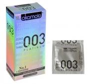 Супер тонкие презервативы OKAMOTO Platinum 10 (10 шт.)