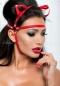 Красная маска с ушками из стреп лент Me Seduce MK 05 SL