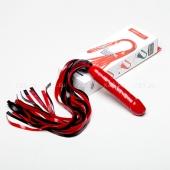 Чёрно-красный латексный фаллос-плетка Mini Rocket