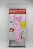 Розовый анальный стимулятор Bendy Twist