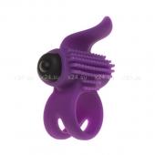 Эрекционное кольцо Bullet Lastic Ring с вибрацией и язычком-стимулятором клитора