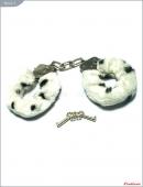 Металлические наручники с пятнистым мехом