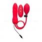 Красный надувной вибратор OUCH! INFLATABLE VIBRATING SILICONE TWIST (10 режимов)