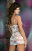 Кружевное мини-платье со шнуровкой на груди Leticia SM