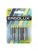 Набор из 4-х батареек ERGOLUX Alkaline  (тип AA)