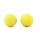 Металлические шарики с гладким желтым силиконовым покрытием MAIA SILICON BALL SB1
