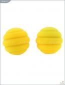 Металлические шарики с спиральным желтым силиконовым покрытием MAIA SILICON BALL SB2