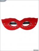 Красная маска из натуральной кожи