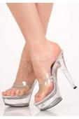 Туфли прозрачные со стразами  (37 размер)
