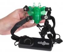 Клиторальный зеленый вибростимулятор Butterfly Stimulator