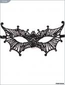 """Ажурная черная кружевная маска """"Женщина-вамп"""""""