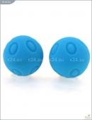 Металлические шарики с голубым текстурированным покрытием MAIA SILICON BALL WD SB3