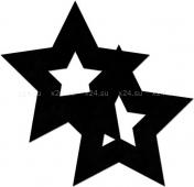 Пестисы в виде открытых черных звезд OUCH!