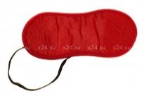 Красная сатиновая маска на глаза Love Mask