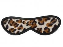 Двустороння маска на глаза с леопардовым принтом
