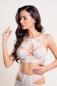 Бралетт с перекрещиванием на груди удлиненный белый LxL