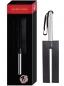 Кожаная шлепалка-камертон с прорезью и металлической ручкой Leather Slit Paddle