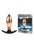 Тяжелый металлический анальный стимулятор для ношения IRON LOVE