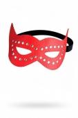 """Красная кожаная маска """"кошка"""""""