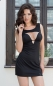 Черное мини платье с декольте DINA L