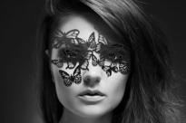 Маска маскарадная Bijoux Sybille, черная