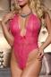 Кружевное розовое боди с доступом сзади CANDY GIRL One Size