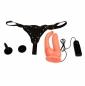 Страпон с вибрацией для двойного проникновения Ultra Passionate Harness (многоскоростная вибрация)