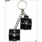 Сувенир-брелок черные лакированные наручники