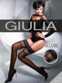 Чулки черные с силиконом Giulia ALLURE 02 1/2 (20 den)