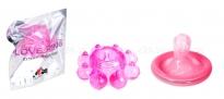 Кольцо гелевое Цветок розовое