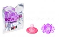 Кольцо гелевое Цветок фиолетовое