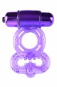 Эрекционное вибро-кольцо на пенис и мошонку Infinity Super Ring