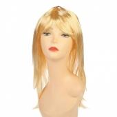 Русый длинный парик с челкой