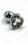 Маленькая пробочка с тупым кончиком с кристаллом в форме прозрачного сердечка