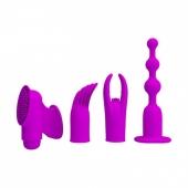 Вибро-набор с 4 насадками Joy Collection (12 режимов)