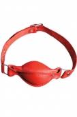 Красный кожаный кляп X-Desire