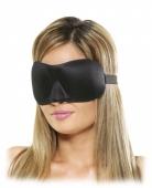 Черная маска на глаза с выемкой для носа Deluxe Fantasy Love Mask