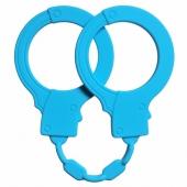 Силиконовые голубые наручники Stretchy Cuffs