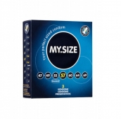 Презервативы латексные MY.SIZE ширина 57 мм (3 шт)