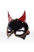Лакированная маска дьяволенка с красными ушками Harness Devil Mask