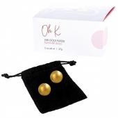 Тяжелые металлические шарики с золотым покрытием 24К CG PLEASURE BALLS