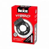 Эрекционное вибро-кольцо АФРИКАНСКИЙ ЭЛЬ ДЬЯБЛО Luxe Vibro (презерватив в подарок)