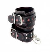 Наручники с сердечками из эко кожи Elegant Handcuffs