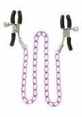 Регулируемые зажимы на соски с цепью Nipple Chain Metal