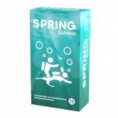 Презервативы SPRING Bubbles с пупырышками и ароматом тутти-фрутти (12 шт)