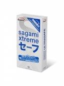 Презервативы латексные утолщенные с двойным количеством смазки SAGAMI Xtreme Ultrasafe (10 шт)