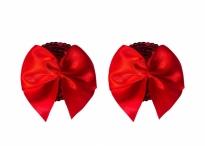 Красные пестисы с бантиками Burlesque Blaze Red