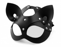 Кожаная маска Кошка Lady's Arsenal Black