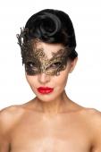 Золотистая карнавальная маска Хамаль